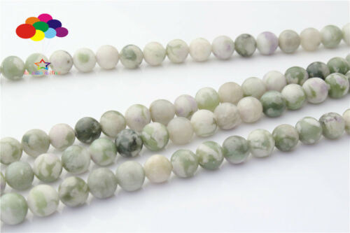 Diy 6//8//10//12mm Natural Stone Sepiolite Round Beads fit Yoga bracelet necklace