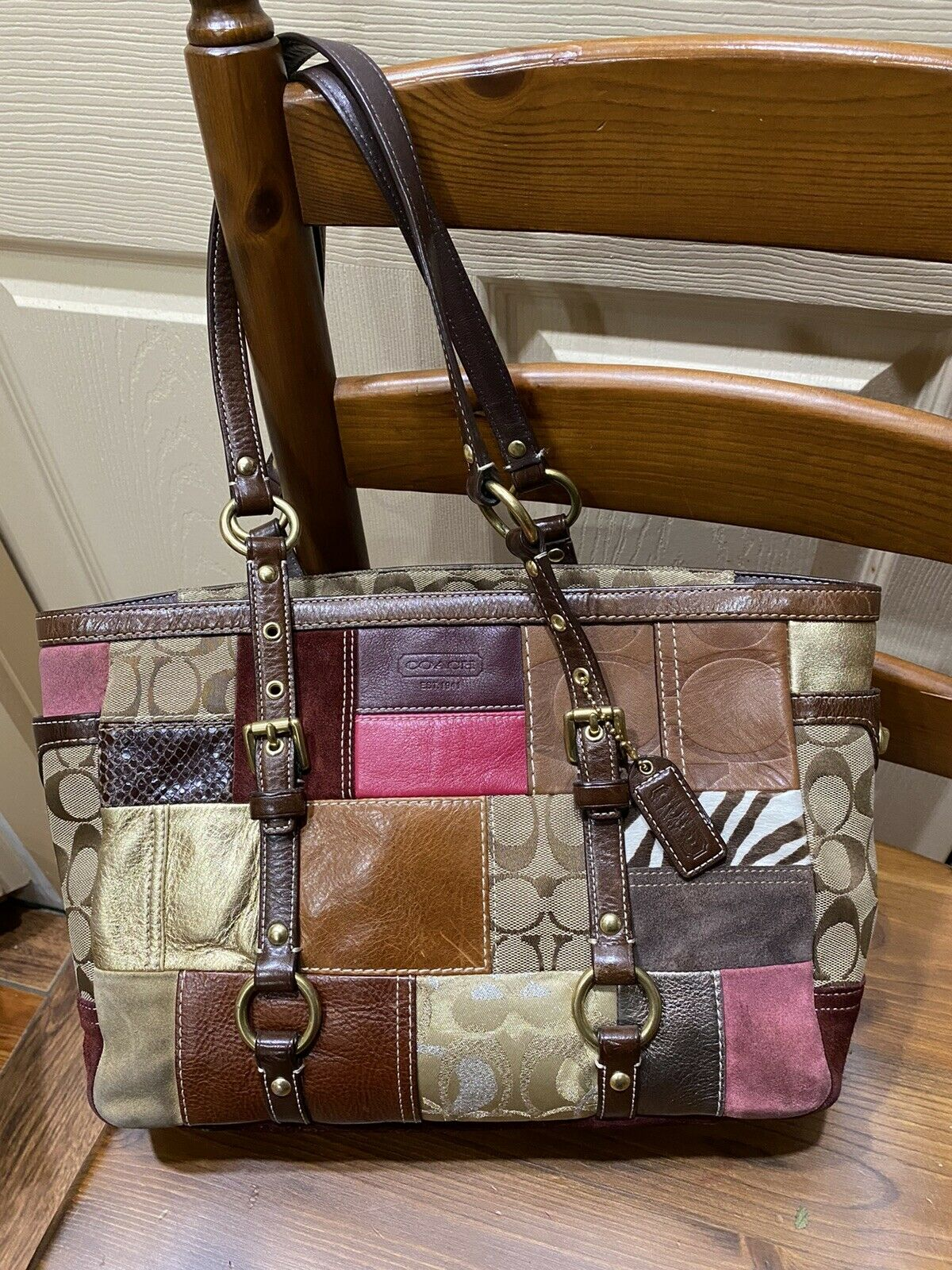 coach patchwork tote - image 2