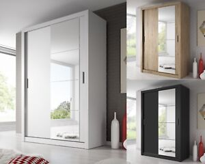 Brand New Modern Bedroom Sliding Mirror Wardrobe Arti 6