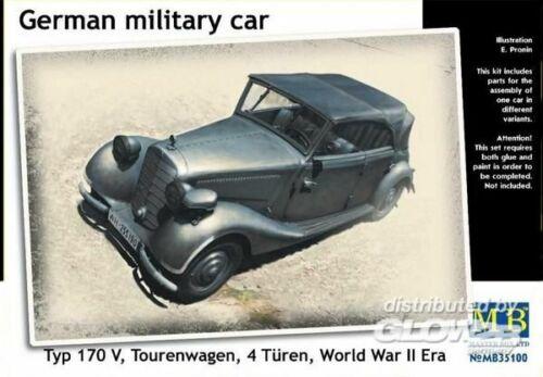 military car Typ 170V Tourenwagen Master Box Ltd MB35100 Fahrzeuge Germ