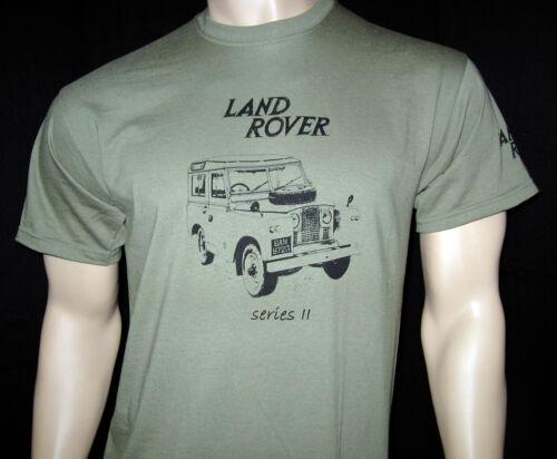 5 Tallas Verde Oliva,Caqui O Ash Gris Sepia Land Rover Serie 2 Camiseta