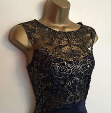 RRP£60 NEW  Lipsy Lace Bodice Wiggle Fitted Evening Weddin Party Dress Uk L 8 10