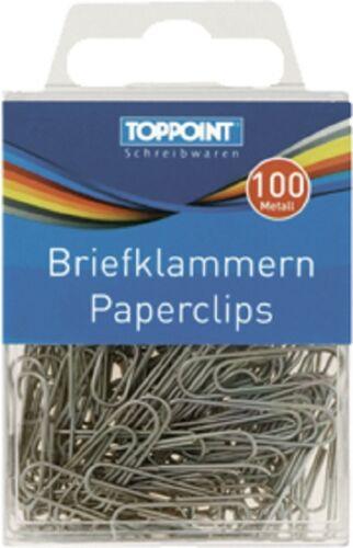 Büroklammern Briefklammern 100 Stück von Stylex Toppoint