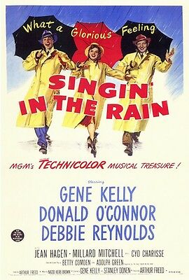 """SINGIN' IN THE RAIN (1952) Movie Poster [Licensed-NEW-USA] 27x40"""" Theater Size"""