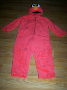 Size-3-4T-Sesame-Street-Tickle-Me-Elmo-Plush-Halloween-Costume-Giggle-Sounds-EUC