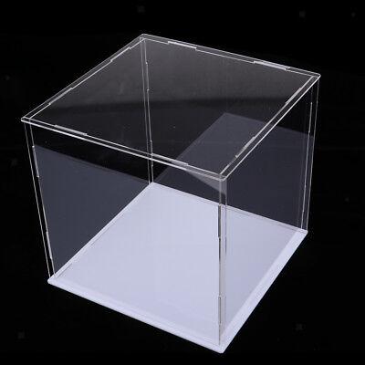 Clear Acrylic Display Case Box Dustproof Cube Perspex 35x18x13cm for Dolls