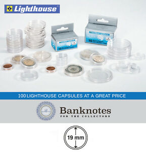 100 Lighthouse Round 39mm Diameter Silver Round Direct Fit Coin Capsules holders