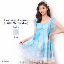 New Japan Secret Honey Disney Exclusive Ariel I Will Sing Short Blue Dress