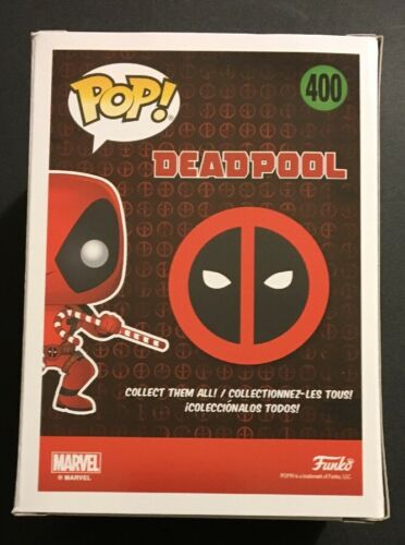 Funko Pop Marvel Holiday Deadpool w// Candy Canes #400 W// .45 MM Pop Protector!
