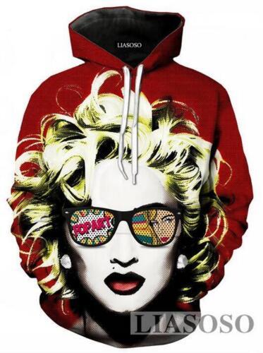 New Fashion Women//Men Singer Madonna 3D Print Casual Hoodie Sweatshirt R81