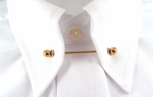 Or ou Argent Chemise col Cravate PIN//BAR 10 Œillets /& Punch bricolage convertir Shirt Kit