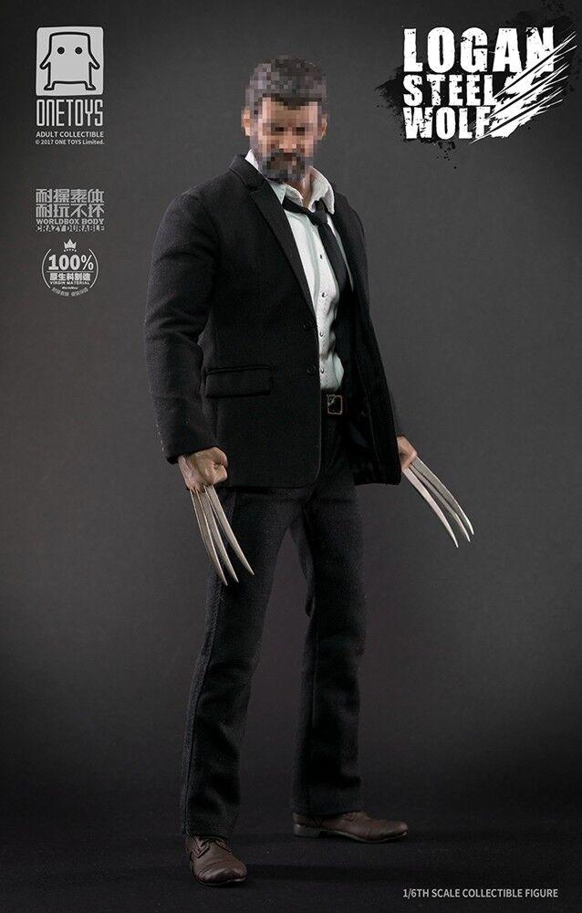 1 6 världbox X ONEleksakS Steel Wolf Logan Wolverine Travel Version Boxad Figur
