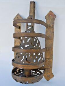 Applique torchere fer forge dore travail Français vers 1950 nCr9r32S-07210358-950574357