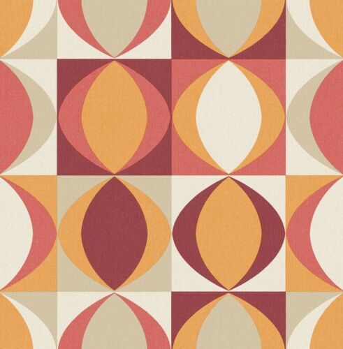Archer Retro Style Wallpaper FD25842 Red//Orange