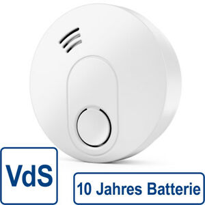 Rauchmelder 10 Jahre Batterie VdS + DIN EN 14604 Feuermelder Brandmelder Melder