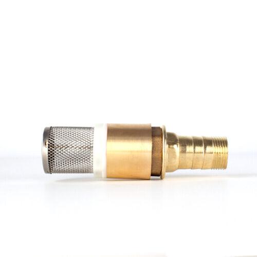"""Fussventil Rückschlagventil 1/"""" Saugkorb Pumpen Messing UVP mit Schlauchtülle"""