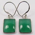 Fashion Jewelry Earrings Genuine GREEN ONYX Gemstones 925 Solid Sterling Silver