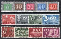 "SWITZERLAND YVERT 405 - 417 "" PAX 1945 COMPLETE SET 13 STAMPS "" MNH VVF P614"