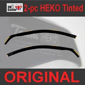 FORD FIESTA mk7 3-door Hatchback or ST 2009-2017 2pc Wind Deflectors HEKO Tinted 5901991500508