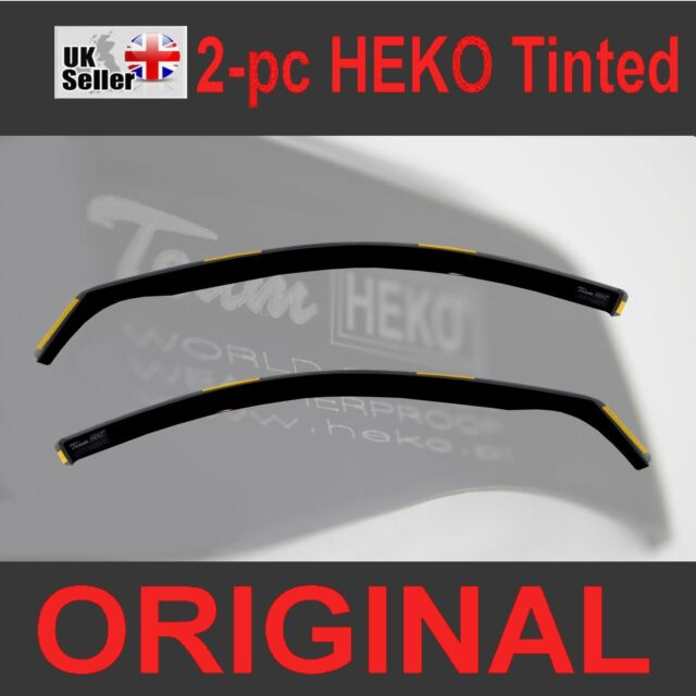 Pair of Front Wind Deflectors Heko, Heko WD15260-5542 Only for the 5 Doors Model Tinted Easy to Fit