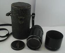 Pentax Asahi Takumar 135mm f 3.5 Lens Pentax M42 Mount +Skylight Filter+ Hood