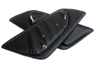 Fits 91-95 Acura Legend Real Leather Rear Door Panel Insert Cards Black