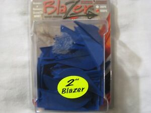 """100 Pk 2"""" Bleu Original Blazer Arrow Plumage De Flèches Aubes Aucun écrit Sur Ces-afficher Le Titre D'origine"""