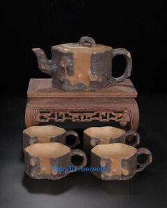 Old China Yixing Zisha Clay Purple Sand Handmade bamboos Teapot 500ml