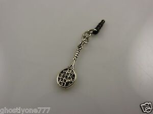 tennis-racket-player-cell-phone-or-fits-Ipad-charm-ear-cap-dust-plug-smartphone