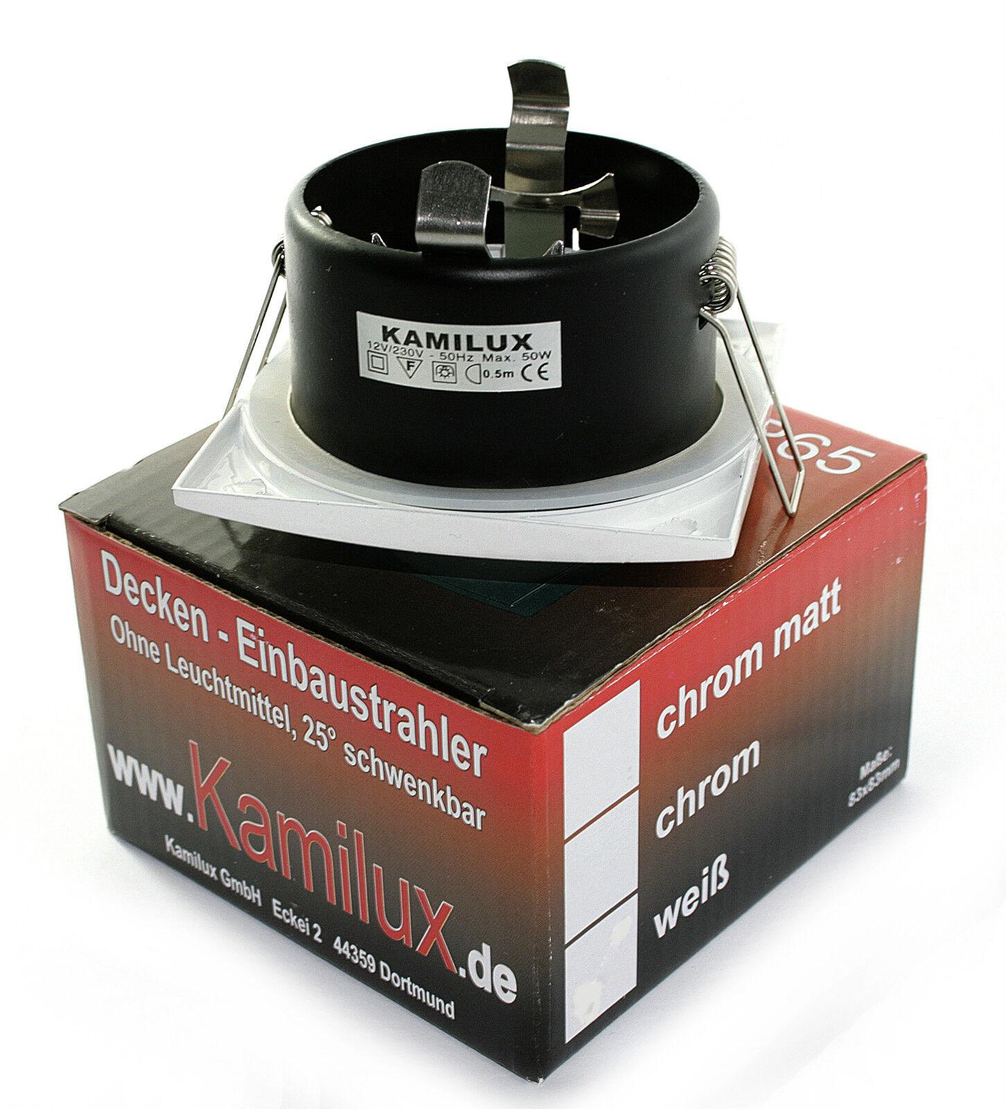 Bad Einbauleuchte AQUARIUS-S 230V High Power Led 5W  50W 50W 50W Dimmbar IP65 GU10   Stilvoll und lustig     428a1b