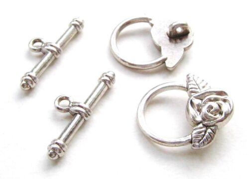 Métal Perles spacer Disque Bronze Antique 19 mm 5 Pièce serajosy