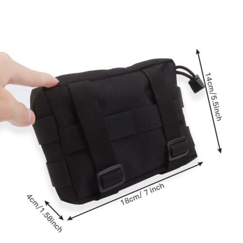 2 Tactical Molle Waist Bag EDC Utility Belt Pouch Hiking Fanny Pack Phone Pocket