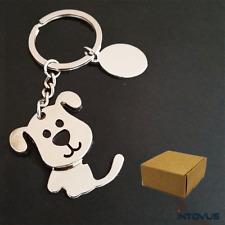 Dog Keychain Cute Print Animal Key Chain Accessory Pendant Keyring Tag Gift Box