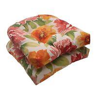 Pillow Perfect Indoor/outdoor Primro Wicker Seat Cushion, Orange, Set Of 2 , on sale