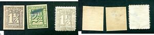 3-Hamburg-Stamps-9-12-and-22-Lot-14030