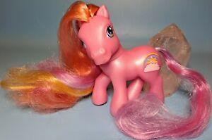 My Little Pony MLP G3 Super Long Hair! Rainbow Flash 2004 Pink Brushable Sunset