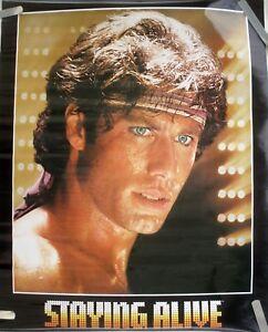 Rare Staying Alive John Travolta 1983 Vintage Original Movie Pin Up