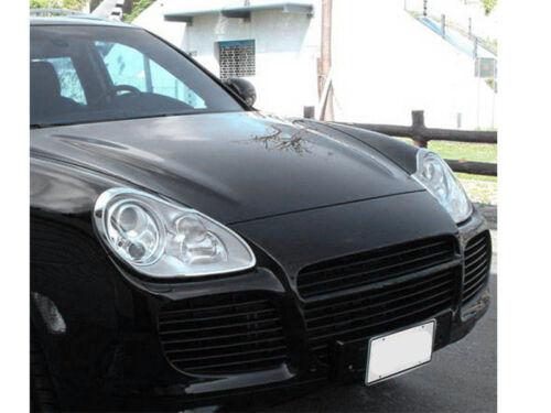 * Chrome Head Light Trim Bezel Cover Surround Rim For Porsche Cayenne 955 03-06