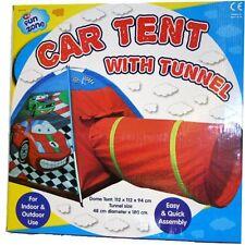 POP UP CAR PLAY TUNNEL TENT KIDS CAMPING FUN INDOOR OUTDOOR PLAY TENT ASST