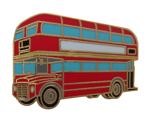 London Routemaster Double Decker Bus Pin Badge