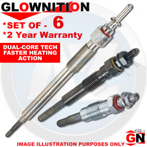 G1019 For BMW 3 325d 330 Cd xd 330d 335 d Glownition Glow Plugs X 6