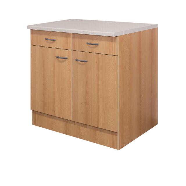 Küchen Unterschrank Namu 100 Cm buche Dekor