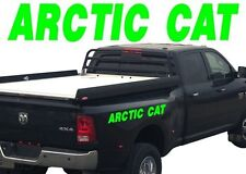 """2 ARCTIC CAT 30"""" Graphic Vinyl Decals For Truck or Sled Snowmobile Trailer Green"""