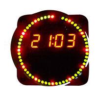 DIY DS1302 Rotating LED Electronic Digital Clock 51 SCM Learning Board Tool Kit