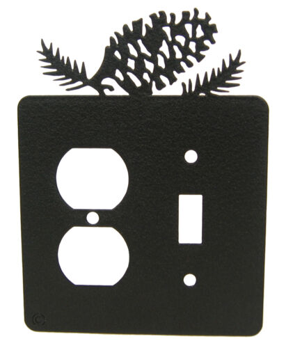 Pinecone Single Switch /& Single Outlet Cover Plate