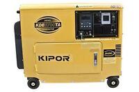Kipor KDE6700TA Diesel Generator & 100A ATS Switch 12 months Kipor warranty