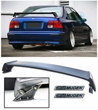 For 96-00 Civic EK Sedan MUGEN Style Rear Trunk Wing Spoiler W/ 2 Pcs BK Emblems