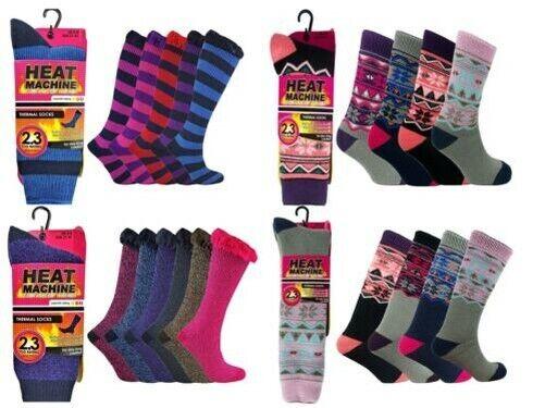 Dicke Thermo Winter Fleece Gestrickt Stiefel Socken 2.3 Tog Verschiedene Designs