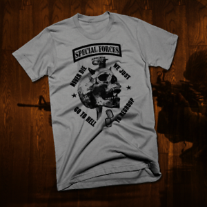Army Special Forces Ranger T-Shirt Iraq War Military Sniper Combat Vet Delta new