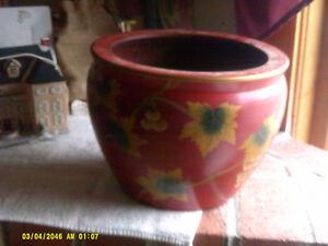Norcal New England Pottery 11 75 Ming Pot Tole Trivoli Red Planter
